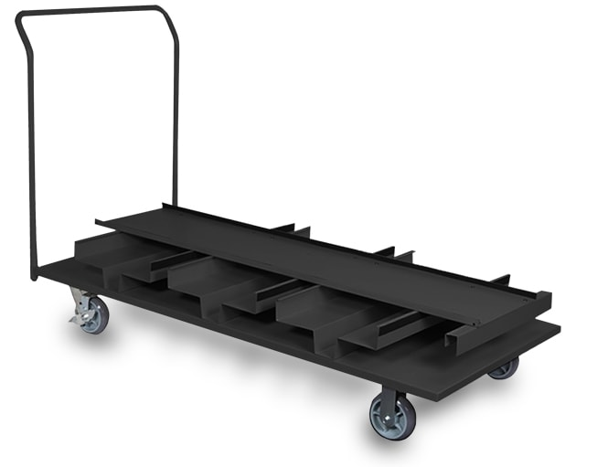 Retractable belt storage cart