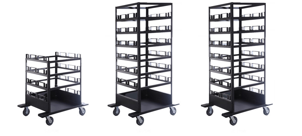 horizontal storage cart