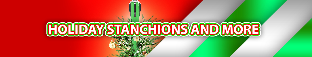 holiday stanchion deals on safety barricades
